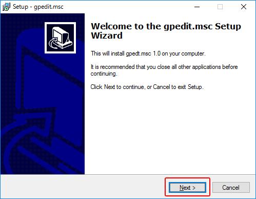 ローカルグループポリシーエディター(gpedit.msc)をインストールする方法 - Windows 10 Home